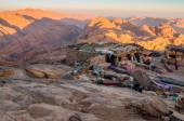 Arab Bedouin Shops on the Holy Mount Sinai, Egypt — Stock Photo