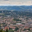 Bergen City Skyline from Floyen mountain, Norway — Stock Photo #66892587