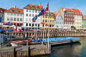 Nyhavn canal in Copenhagen — Stock Photo