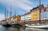 Nyhaven Waterside Copenhagen, Denmark — Stock Photo