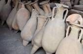 Pompeii amphoras — Stock Photo