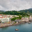 Постер, плакат: View of Roseu on a cloudy day Dominica