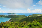 Tropical bay vista - St. Thomas from the Mountains — Stock Photo