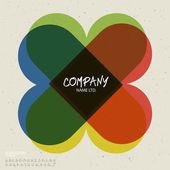 Social logo design template — Stock Vector