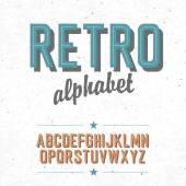 Old cinema styled alphabet — Stock Vector