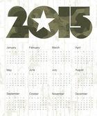Military Calendar 2015. Vector. — Stock Vector