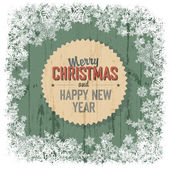 Merry Christmas greeting — Stock Vector