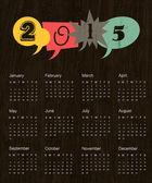 Vintage calendar 2015 — Stock Vector