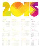 Calendar 2015 Colorful — Stock Vector