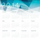 Calendario 2014 — Vector de stock