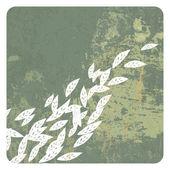 Leaves grunge background — Stock Vector