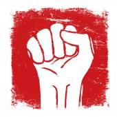 Grunge fist illustration. — Stock Vector