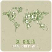 Ecology Poster Concept — Stockvektor