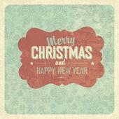 Christmas Greeting Vintage Poster — Stock Vector