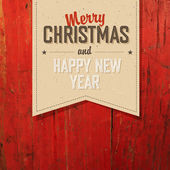 Merry Christmas Tag Design — Stock Vector