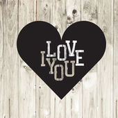 Valentine's day card — Vector de stock