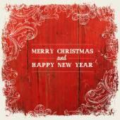 Diseño de la tarjeta de felicitación de navidad — Vector de stock
