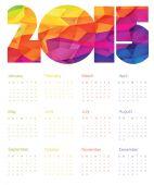 Colorful Calendar 2015 Design — Stock Vector
