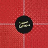 Collection with Red Polka Dot patterns — Vector de stock