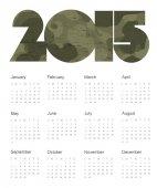 Colorful Calendar 2015 — Stock Vector