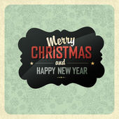 Christmas Greeting Poster — Vettoriale Stock
