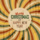 Felicitación de navidad feliz — Vector de stock