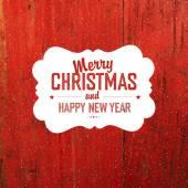 Vintage weihnachten-etikett — Stockvektor