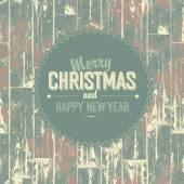Merry Christmas retro card — Vector de stock