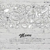 Restaurant Menu Template — Stock Vector