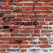 Red aged brick wall — Vetor de Stock