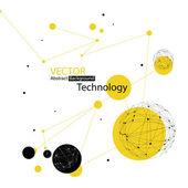 抽象的技术背景 — 图库矢量图片