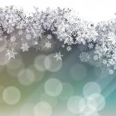 Snowflakes holiday Background — Vector de stock