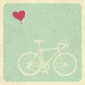 Bicycle and Heart Balloon — Vecteur