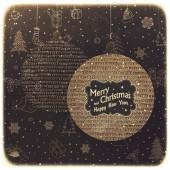 Merry Christmas Card Design — Stock Vector