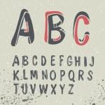 Hand Drawn Alphabet — Stock Vector #68596307