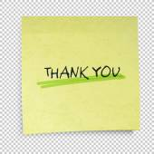Sticky note with Thank You — Stock Vector