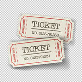 Two cinema tickets — Stock Vector
