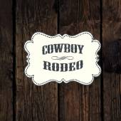 Western styled label — Stock Vector