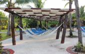 Hammock on a Mexico resort — Foto Stock