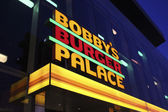 Las Vegas Bobby's Burger Palace by Night — Stock Photo