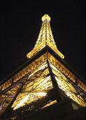 Las Vegas Eiffel Tower at Night — Stock Photo