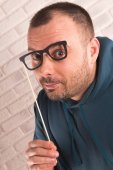 Man with glasses — Stock Photo