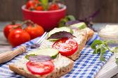 Kanapka z pomidorami — Zdjęcie stockowe