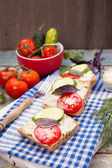 Sandwich with tomatoes — Stock Photo