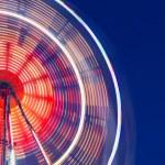 Big wheel at night — Stock Photo #69373611
