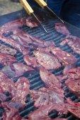 Liver grilled on barbequeLiver grilled on barbeque — Stock Photo