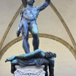 Statue Perseus slaying Medusa in Firenze — Stock Photo #69723045