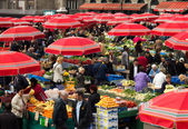 Fruit Market in Dolac, Zagreb  — Stock Photo