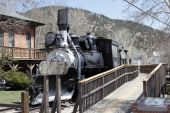 Antique Railroad Train in Colorado — Stock Photo