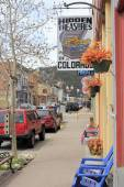 Downtown Miner Street on a Spring Day — Stock Photo